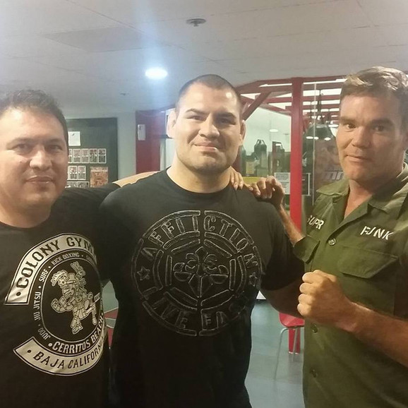 Javier Mendez, Cain Velasquez and I