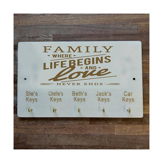 Personalised Family key holder