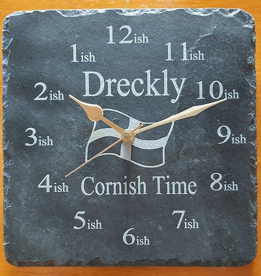 Dreckly clock backwards & revers running