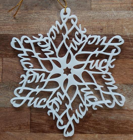 Fun F#*÷ Star Christmas Decoration