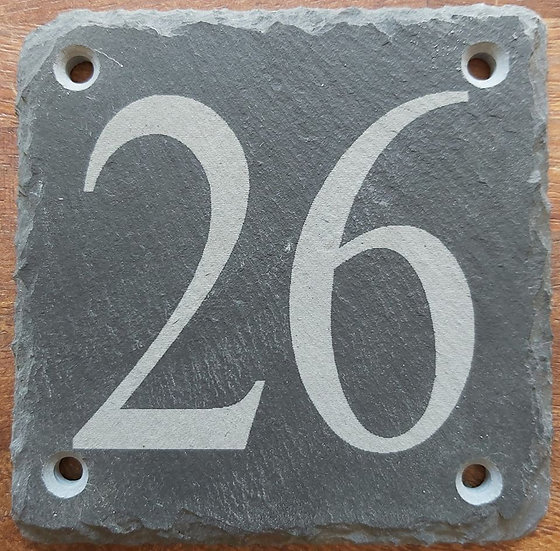 Slate etched house sign 100 mm x 100 mm