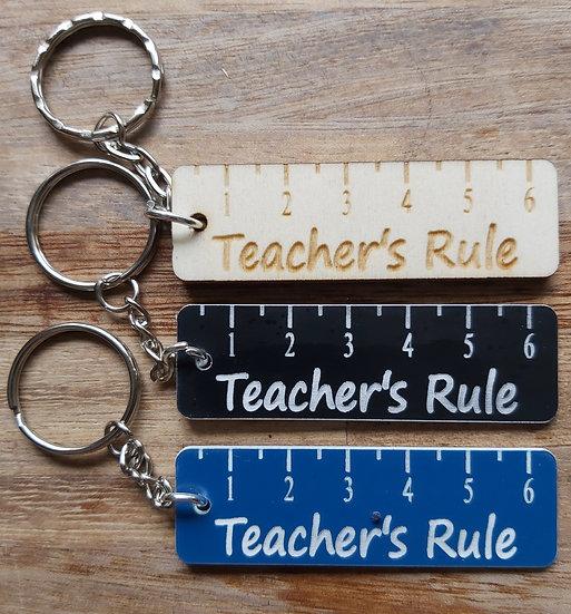 Teacher Ruler Keyring