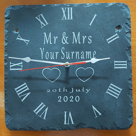 Wedding Clock Wedding Anniversay Gift Mr & Mrs, Mr & Mr, Mrs & Mrs