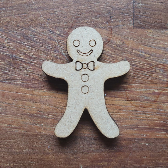 Pack of 10 MDF Gingerbread man