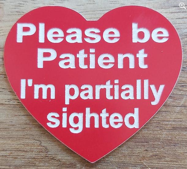 Partial Sight Awareness Badge