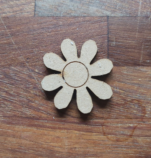 Pack of 10 MDF Flower shape