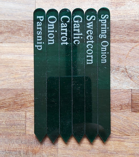 Etched Veg Labels Tags