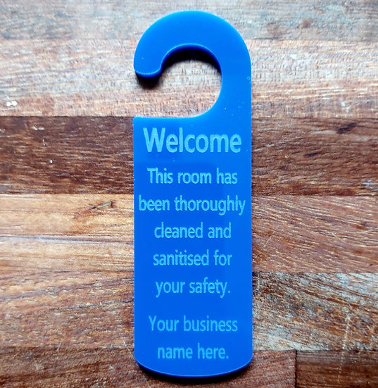 Hotel Door Hanger Information Sign