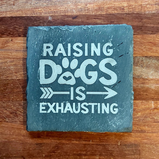 Dog Coaster - Raising dogs is exhausting