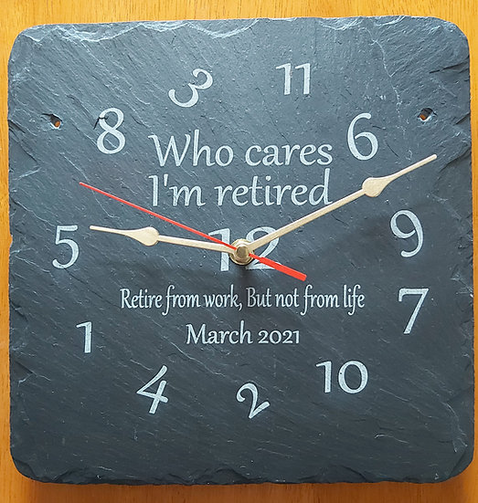 Retirement Clock Personalised Version