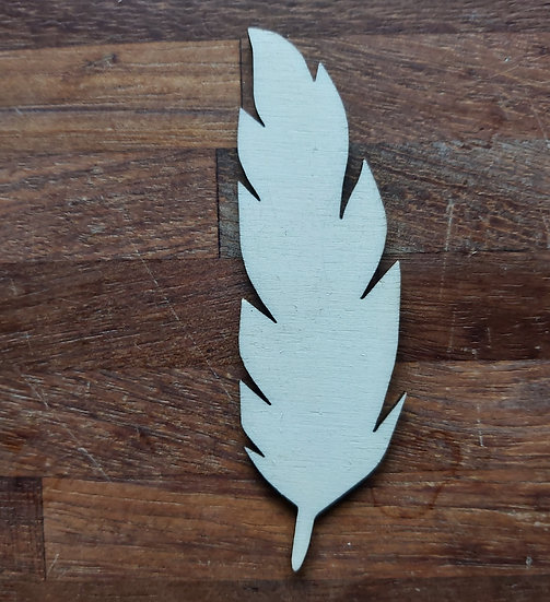 Pack of 10 MDF Feather shapes - Style 1