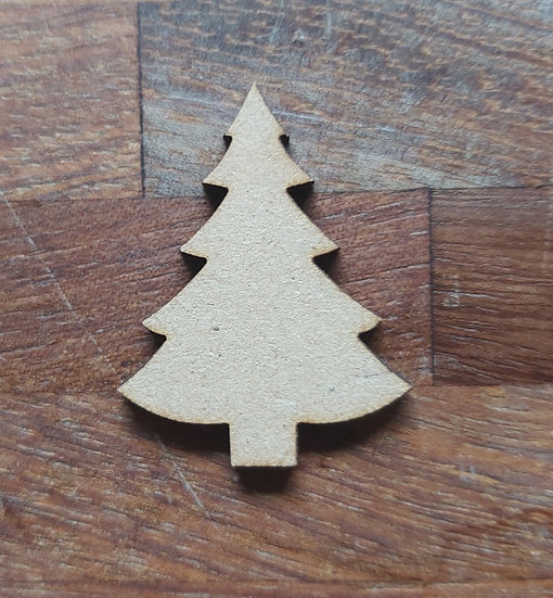 Pack of 10 MDF Christmas trees