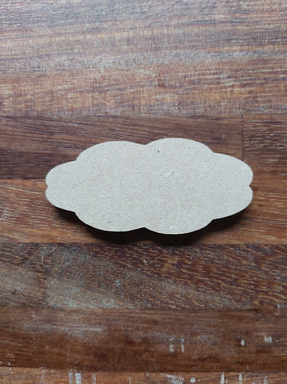 Pack of 10 MDF Cloud shapes