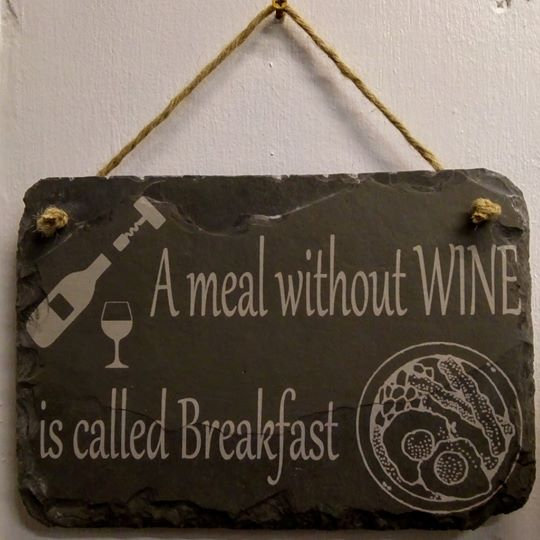 Wine phrase plaque