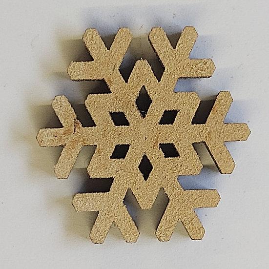Pack of 10 MDF Snowflake