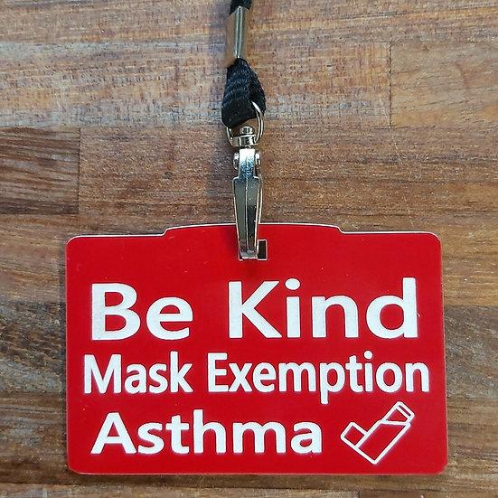 Medical Mask Exemption Lanyard
