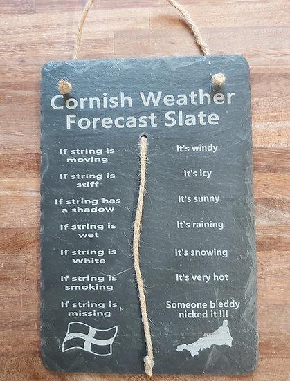 Hanging Weather forecast slate
