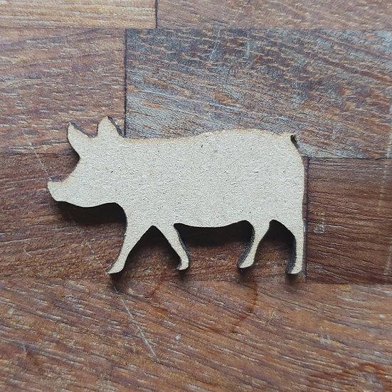 Pack of 10 MDF Pig shape