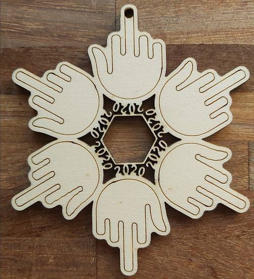 2020 Snowflake Christmas Decoration
