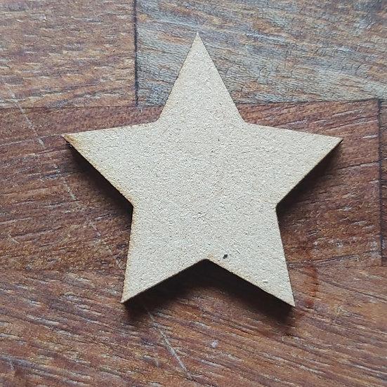 Pack of 10 MDF Stars
