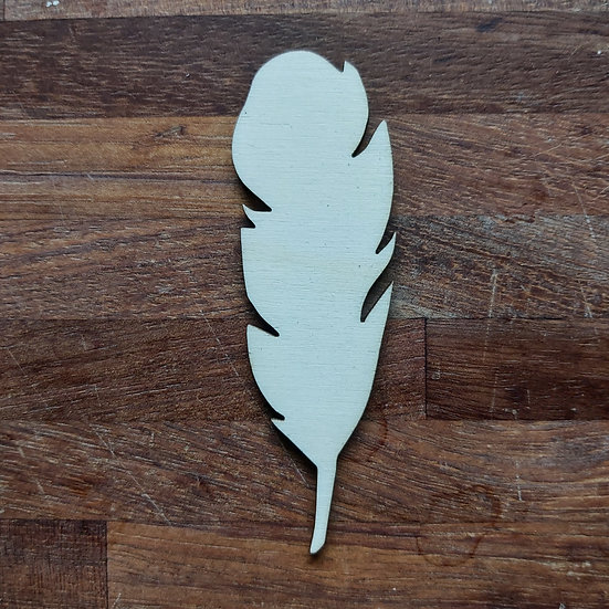 Pack of 10 MDF Feather shapes - Style 3