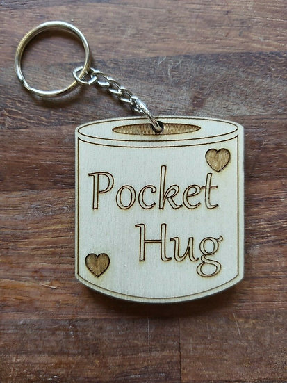 Pocket hug toilet roll key ring