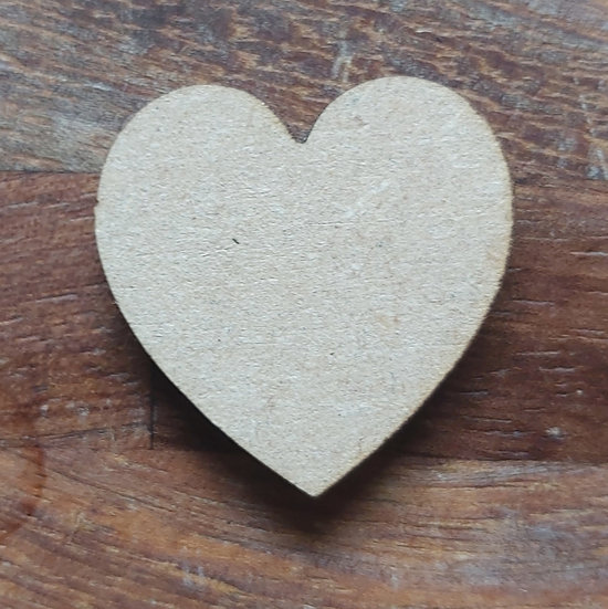 Pack of 10 MDF Heart shapes