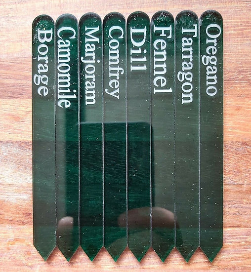 Etched Herb Labels Tags - Set 2