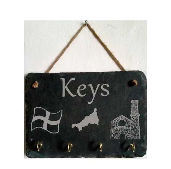 Slate Plaque Key Holder
