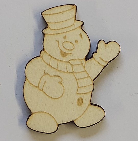 Pack of 10 MDF Snowman