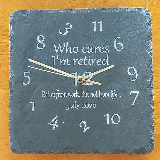 Retirement Clock Personalised Version