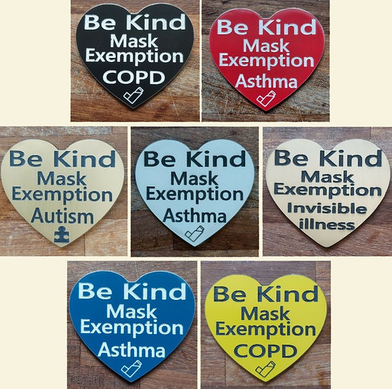 Medical Mask Exemption Badge