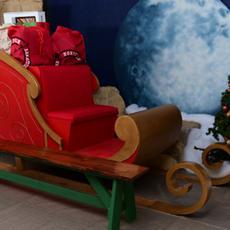 Mean Green Santa's Sleigh