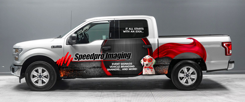 Vehicle Wrap concept for Speedpro Imaging Franchaise