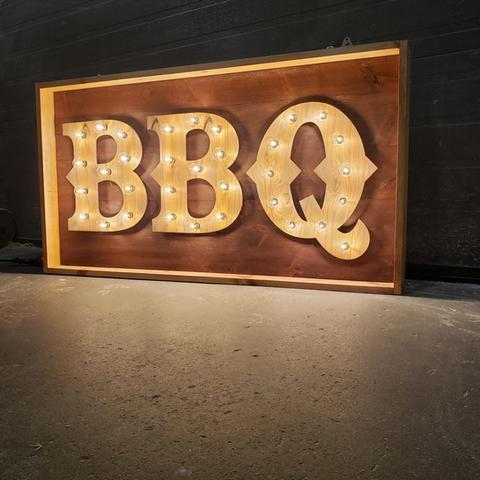 Moe's BBQ - Window Sign