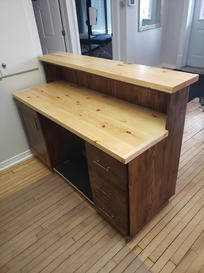 Reception Desk for Embrun Massage Therapy