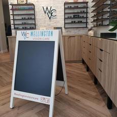 Wellington Vision Care Sandwich board