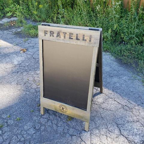 Fratelli and Kichesippi Sandwichboard