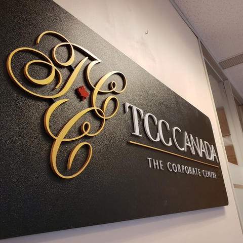 TCC Canada Boardroom Signage
