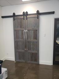 Dodd's Janitorial - Sliding Barn Doors