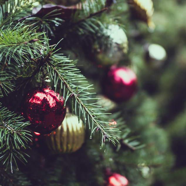 Tannenbaum mit Weihnachtskugel
