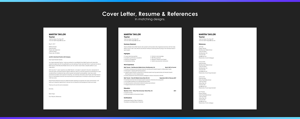 resume builder with photo