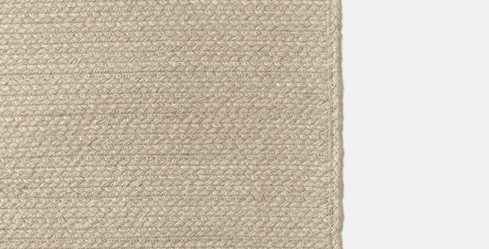 Custom made natural sustainable non-toxic jute rugs ethically handmade