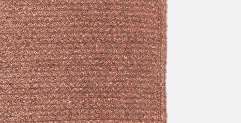 Custom made natural terracotta burgundy rust red non-toxic jute rugs ethically handmade