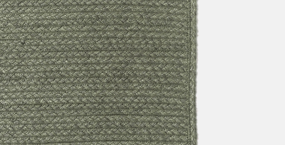 Custom made natural olive green sustainable non-toxic jute rugs ethically handmade