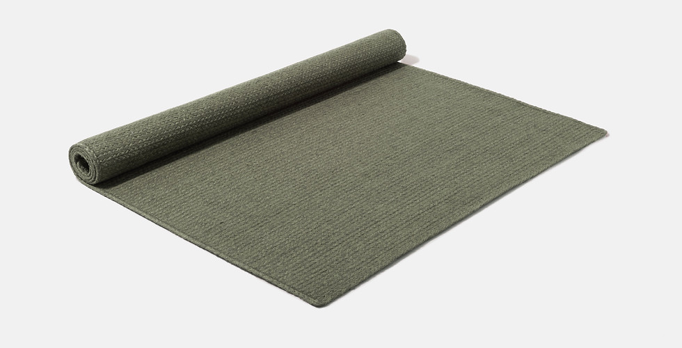 Made to order natural eco friendly olive green rugs ethically handwoven from 100% raw jute
