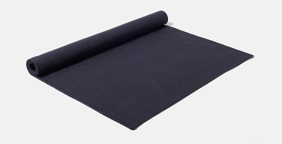 Made to order natural dark blue navy eco friendly rugs ethically handwoven from 100% raw jute