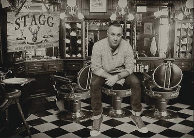 Stagg Barber Co. Dwane Moyer, Reading Barber Shop, Stagg, Stagg Sarge