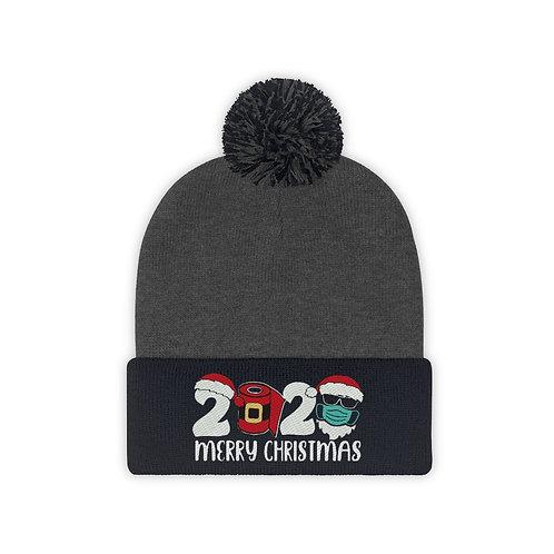 Merry 2020 Christmas -Pom Pom Beanie