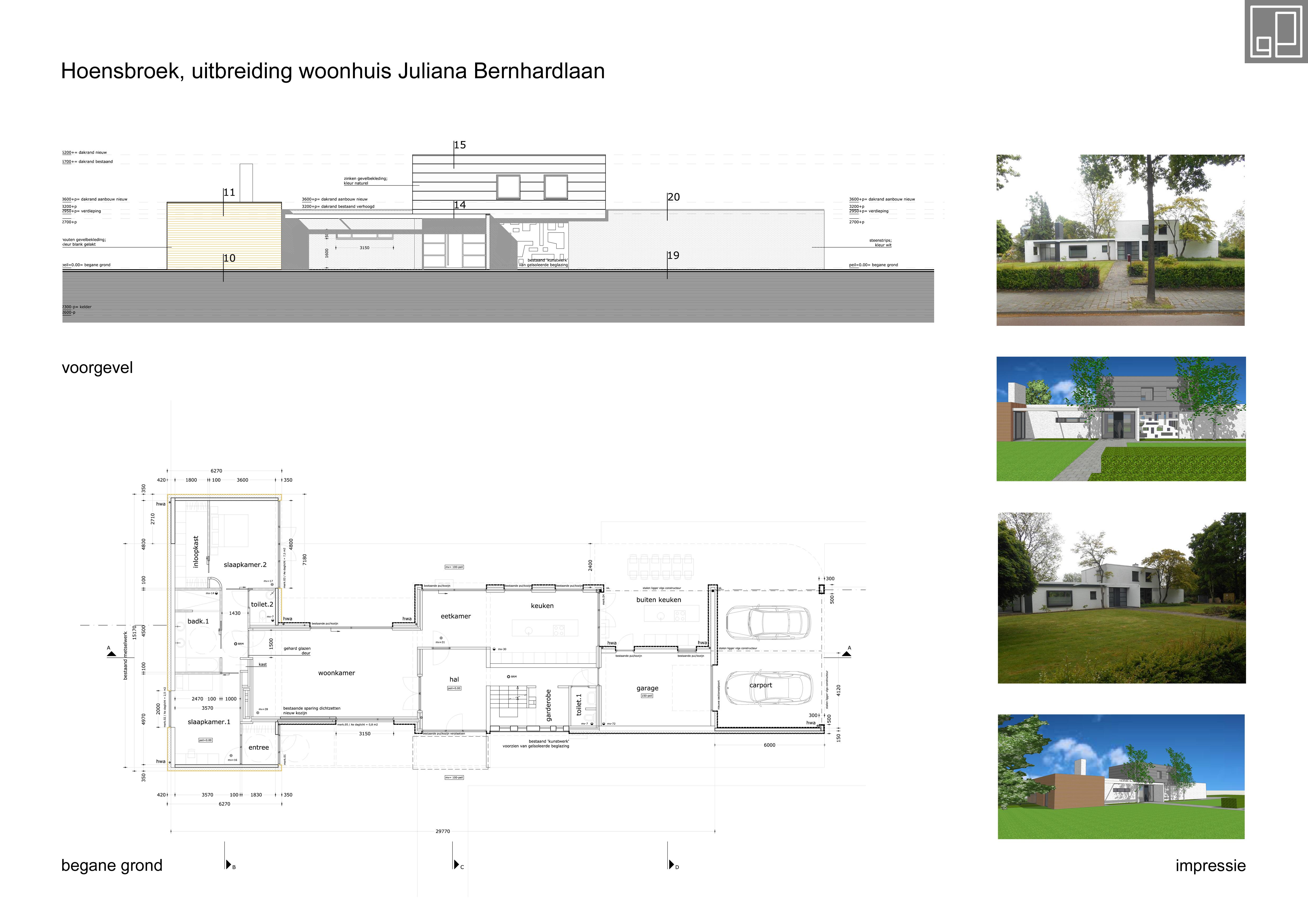 Uitbreiding woonhuis Hoensbroek
